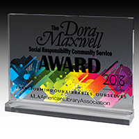 7614-2S (Screen Print), 7614-2L (Laser), 7614-2P (4Color Process) - MINI BILLBOARD ACRYLIC AWARDS